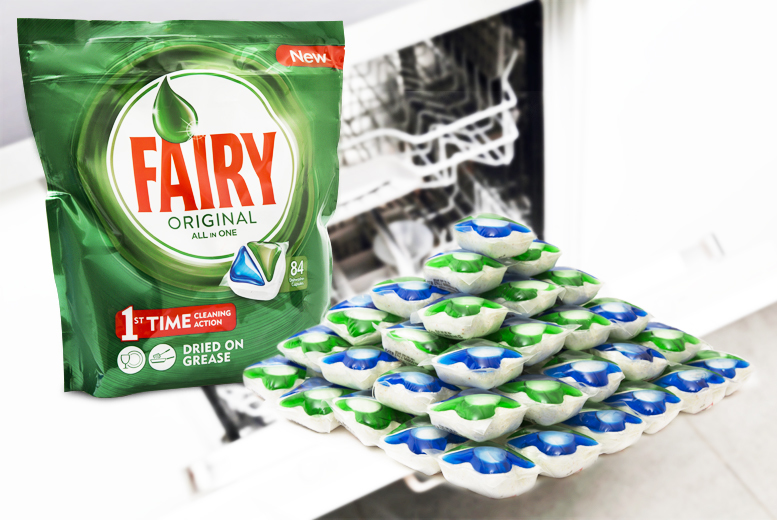 £11.99 for 84 Fairy automatic all-in-one dishwasher tablets from Ckent Ltd