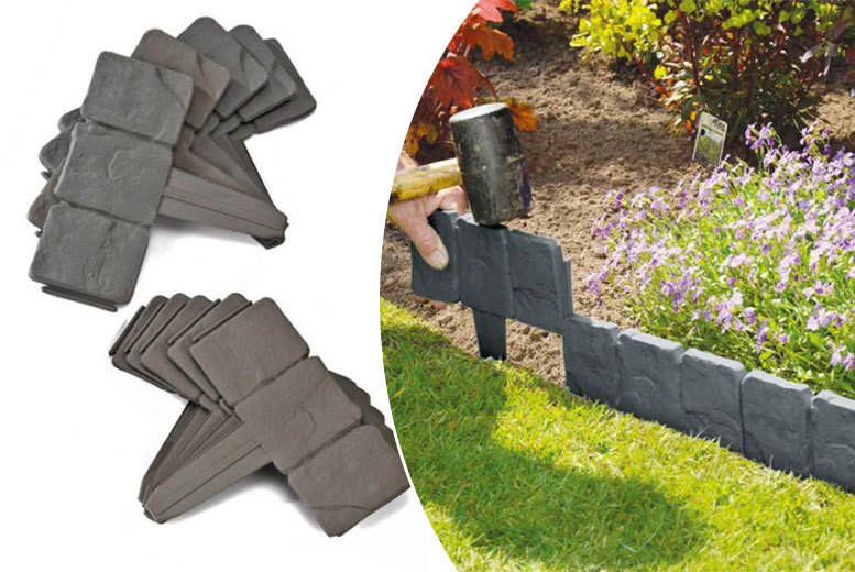 The Best Deal Guide - £7 instead of £21 (from Vivo Mounts) for a 10-pack of stone-effect lawn edging - save 67%