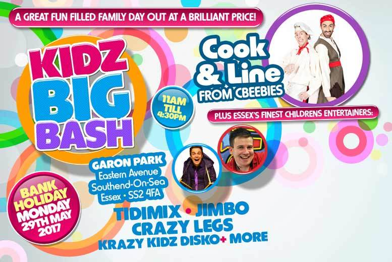 DDDeals - £12 instead of £24 for two tickets to the Kidz Big Bash on 29th May, Southend - save 50%