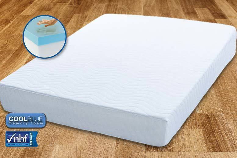 The Best Deal Guide - £59 (from My Mattress Online) for a single Comfort CoolBlue™ memory foam mattress, £69 for a small double or double mattress, or £89 for a king mattress - save up to 84%
