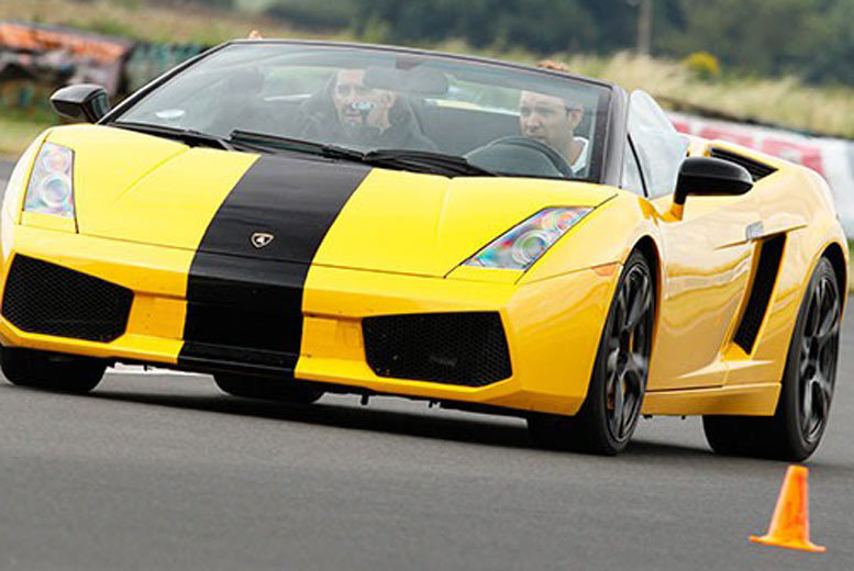 DDDeals - From £39 for a three lap Lamborghini driving experience with Experience Limits - save up to 74%
