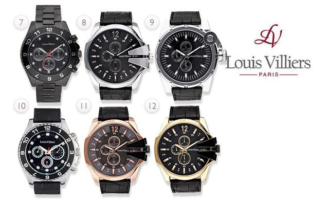 c9b6d4f9d47 From £39 instead of £295.01 (from Brand Arena) for a Louis Villiers watch -  choose from 16 styles and save up to 87%