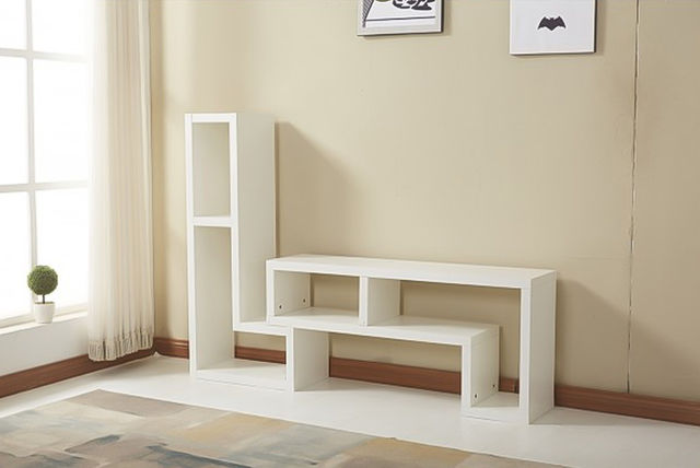 Ultra Modern L Shaped Double Tv Cabinet 2 Colours Bedroom