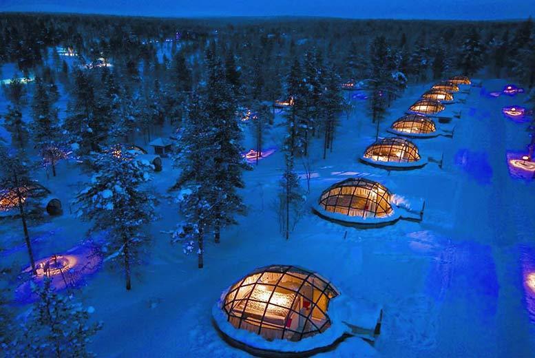 Finland Glass Igloo & SnowHotel Stay, Flights & Breakfast - Xmas & NY Options!