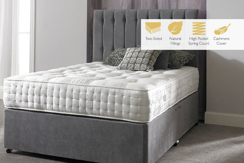 The Best Deal Guide - From £199 instead of £787.01 (from Sleep Express) for a Cashmere 4600 pocket sprung mattress - choose from five sizes and save up to 75%