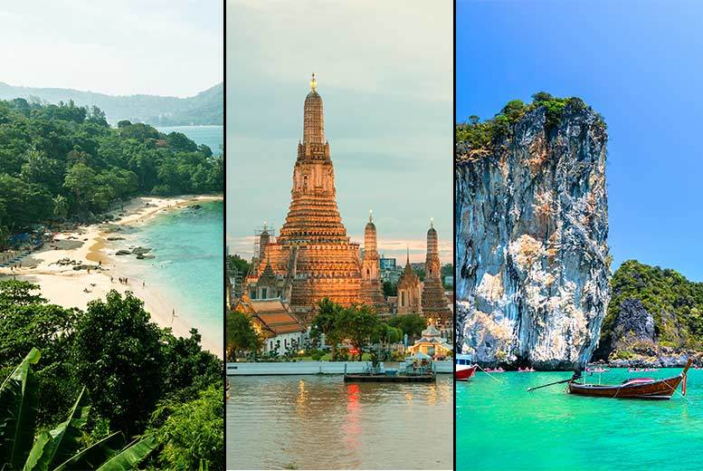 10nt Bangkok Stay with Phuket, Pattaya or Krabi Beach Break