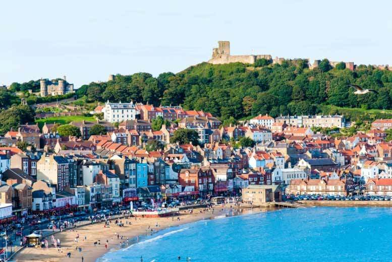 £59 for an overnight stay for two people with a glass of wine on arrival and breakfast, or £79 for two nights at Scarborough Travel and Holiday Lodge - save up to 34%