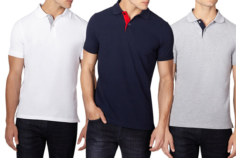 £6 for a Chameleon pure cotton polo shirt from Deals Direct - choose from six stylish colours!