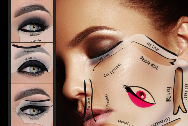 Two Smokey & Cat Eye Eyeliner Stencil Tools. £1.99 instead of £8 (from Forever Cosmetics) for two eyeliner stencil tools - save 75%