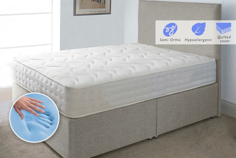 The Best Deal Guide - From £69 (from Midnight Dreams) for an Evolution CoolBlue memory sprung mattress, £89 for a small double or double, or £119 for a king - save up to 82%