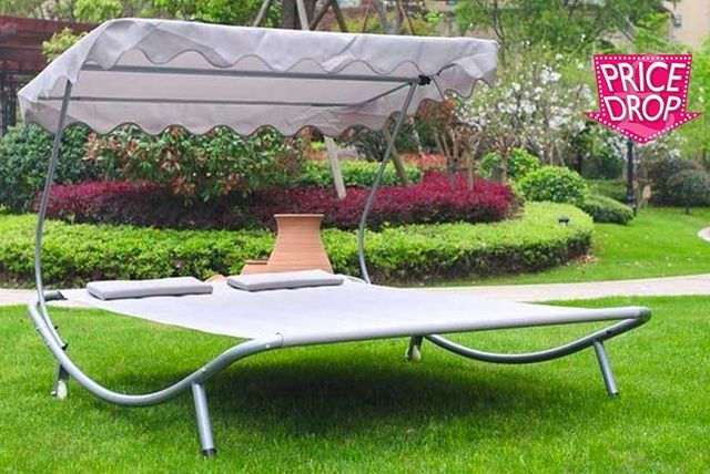 Sun Lounger With Canopy Shopping Livingsocial