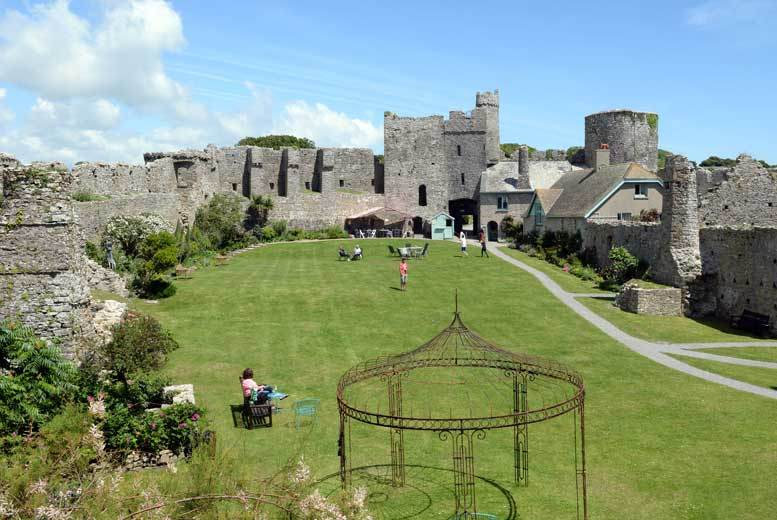 Manorbier Castle Entry for 2 or Family of 4, Pembrokeshire