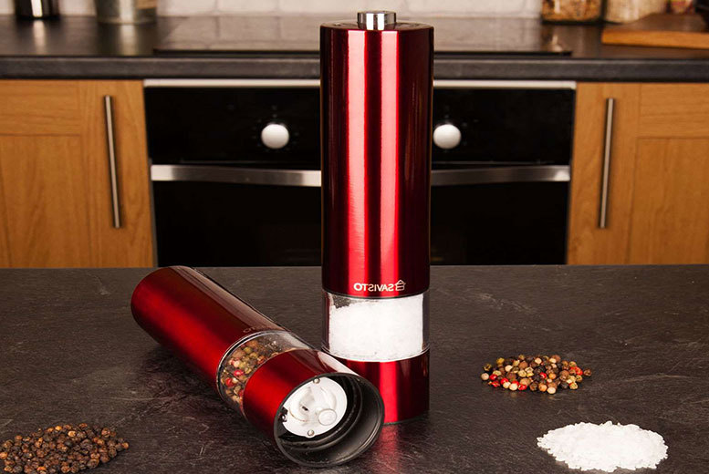 The Best Deal Guide - £10.98 instead of £26 (from Savisto) for an electronic salt and pepper grinder set - save 58%