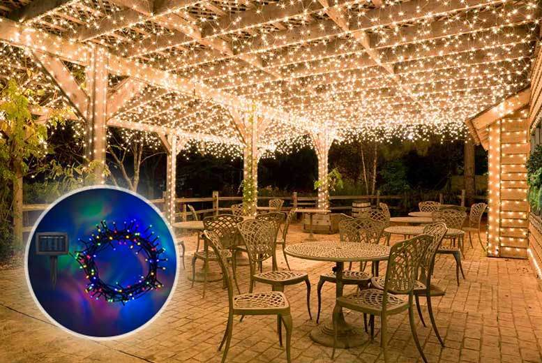 The Best Deal Guide - £4.99 instead of £19.99 (from Chimp Electronics) for a string of 50 LED hanging lights, £9.99 for 100 lights, or £14.99 for 150 lights - save up to 75%