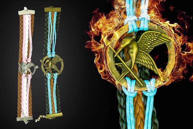 The Best Deal Guide - £5.99 instead of £28 (from Bentley's Bargain Warehouse) for a Hunger Games inspired antique bronze colour Mockingjay bracelet - save 80%