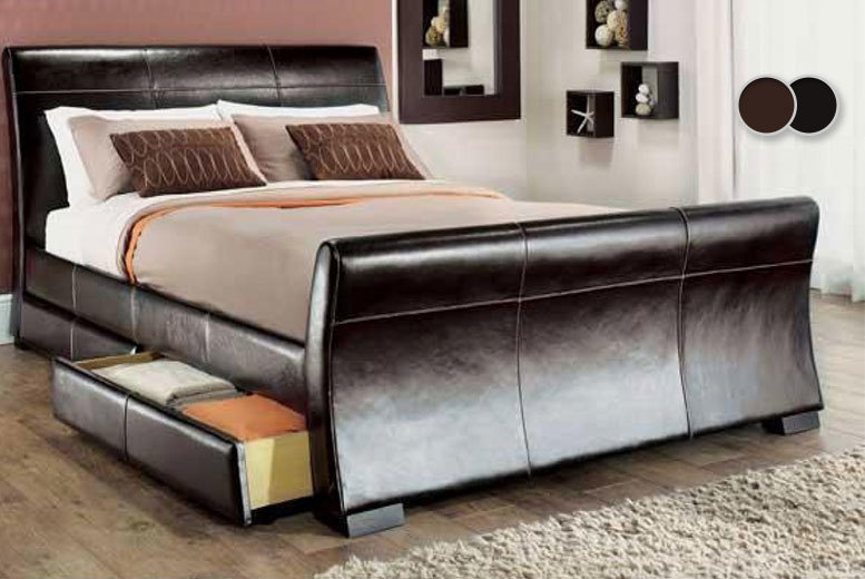 The Best Deal Guide - From £129 (from Giomani Designs) for a faux-leather bed frame, with a limited number available for £119, from £189 with a memory mattress, £199 with a spring mattress - save up to 79%