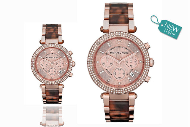 03bb29ac1137 €139 instead of €260.41 (from Gray Kingdom) for a ladies  Michael Kors  MK5538 Parker chronograph watch - save 47%