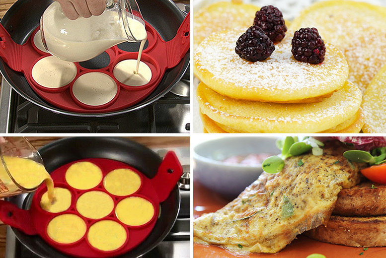 £5.99 instead of £19.99 for a 2-in-1 easy pancake and egg maker from Ugoagogo - save 70%