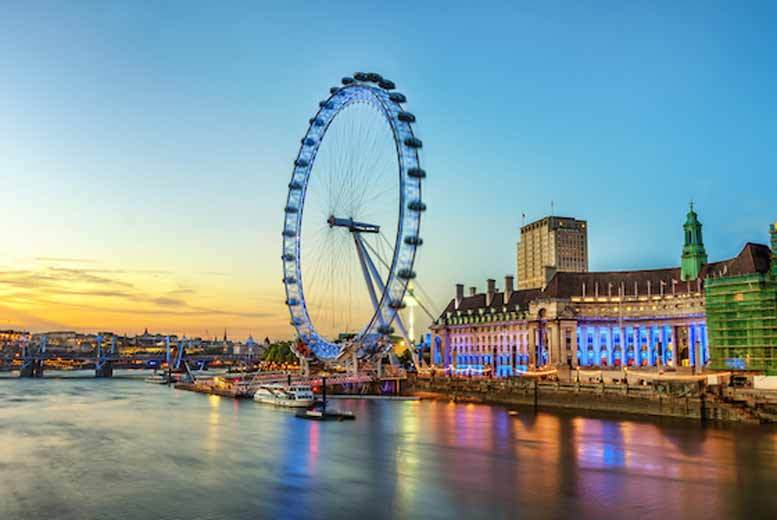 The Best Deal Guide - £89pp (from OMGhotels.com) for an overnight London stay with breakfast and Champagne London Eye experience, or just £119pp for a 4* break