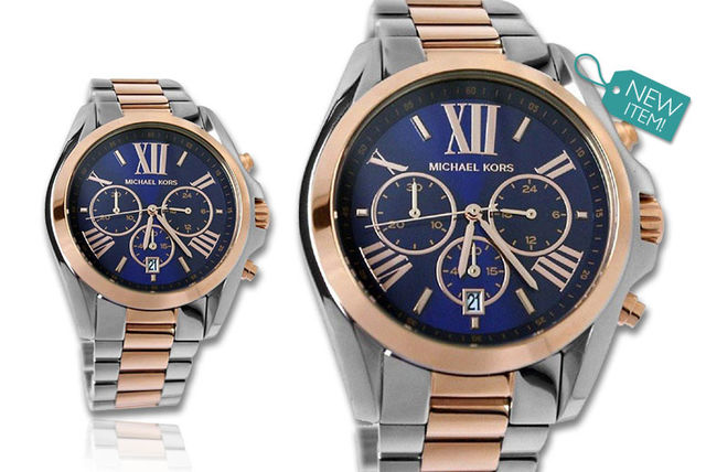 78c1df0d4ade €139 instead of €289.97 (from Gray Kingdom) for a ladies  Michael Kors  two-tone Bradshaw MK5606 watch - save 52%