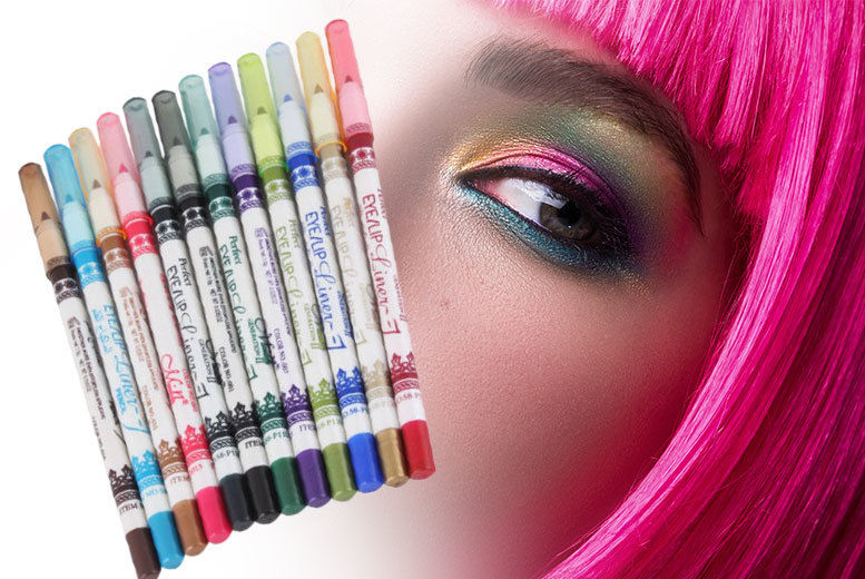 The Best Deal Guide - £6 instead of £14.99 for a 12-piece waterproof eyeliner pencil set from Jazooli - save 60%