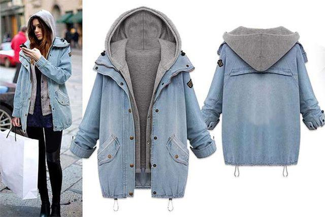 e4cb2bb2201 2-in-1 Women s Urban-Style Denim Jacket - UK Sizes 8-20!