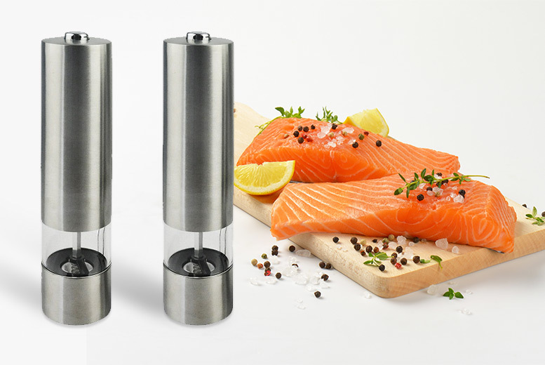 The Best Deal Guide - £9.99 instead of £27 (from Vivo Mounts) for a set of electronic salt and pepper mills - save 63%