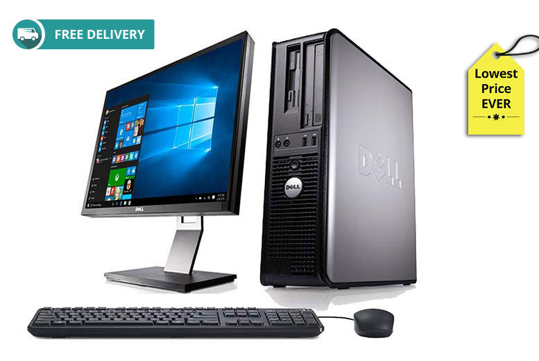 The Best Deal Guide - £139 instead of £999 (from Computers Reborn) for a grade B-refurbished 320GB 4GB RAM Dell Optiplex 745 with 19