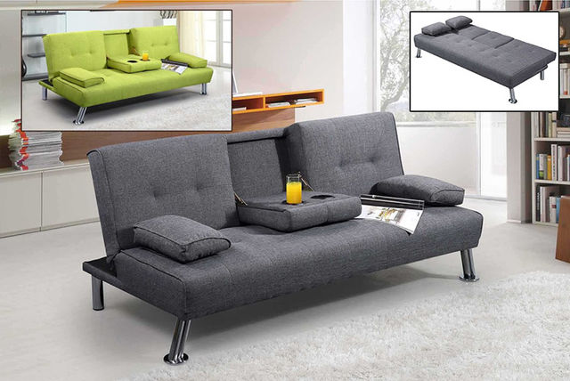 new york fabric sofa bed 2 colours sofas futons deals in