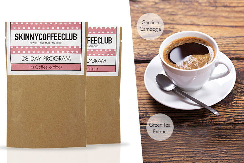 The Best Deal Guide - £25 instead of £45.91 (from Skinny Coffee Club) for a 56-day supply* of Skinny Coffee Club coffee - save 46%