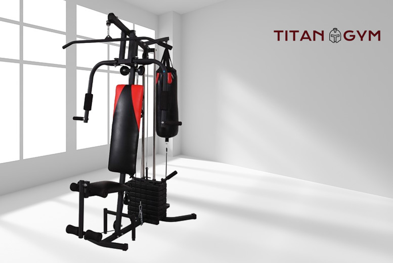 The Best Deal Guide - £159 instead of £300 (from Games and Fitness) for a Titan home gym workout single station, £179 to include punch bag, £299 for three-station or £349 to add a punch bag  – save up to 47%