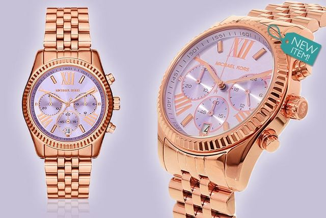 ae5a2ebc6a1f ... Lexington Lilac Dial with Rose-Gold Tone Watch. £149 instead of £229  (from Gray Kingdom) for a ladies  Michael Kors MK6207 watch - save 35%