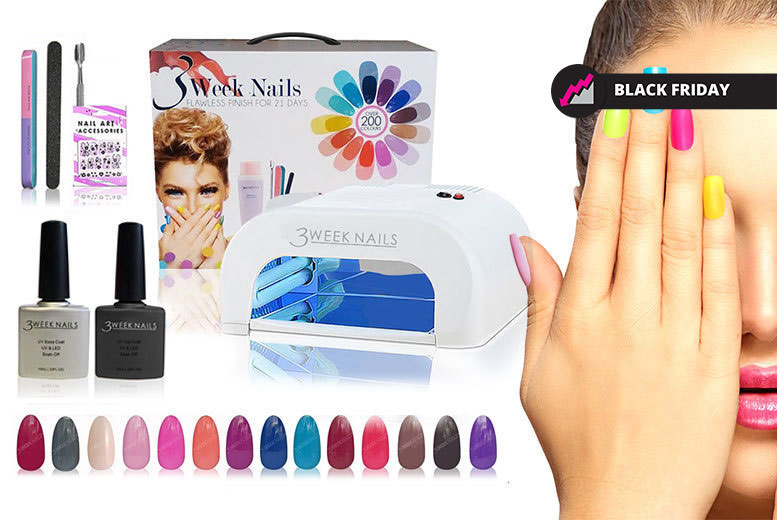 The Best Deal Guide - £29.99 instead of £199 (from 3 Week Nails) for a 12-piece UV gel nail polish and accessories kit, £39 for a 15-piece - save up to 85%