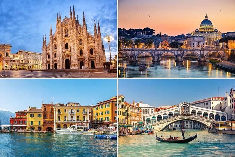 8nt venice rome florence milan flights trains travel