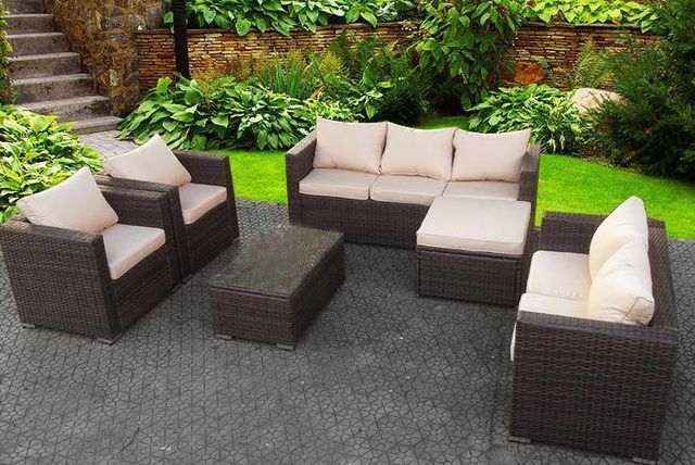 469 instead of 970 from dreams outdoors for an eight seater rattan garden set choose from three colours and save 52