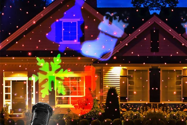 lighting white laser lamps light christmas outdoor product led decoration home for lawn romantic waterproof projector snowflake projection lights