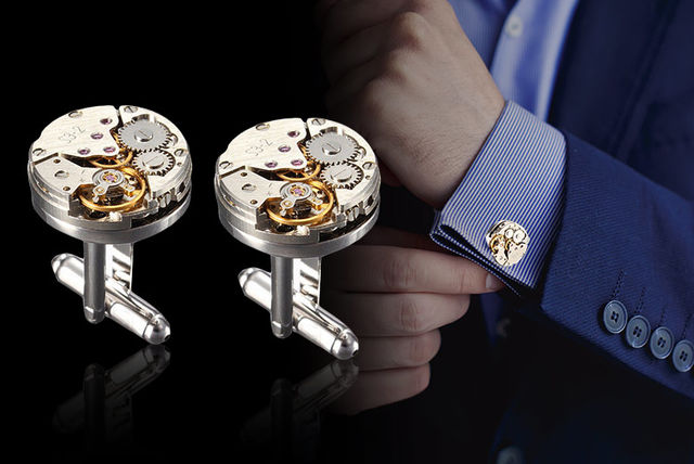 3a4ab77d5 £8 instead of £29.99 (from London ExchainStore) for a pair of steampunk-style  watch movement cufflinks - save 73%