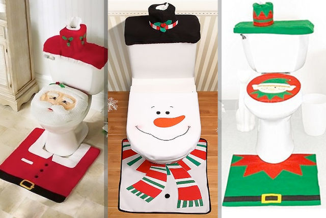 699 instead of 2241 from dml solutions for a three piece christmas toilet seat cover set choose from three styles and save 69