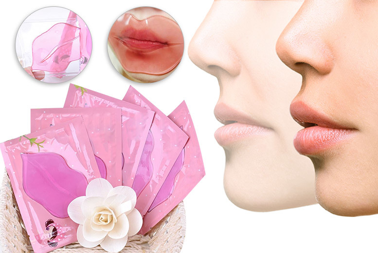 The Best Deal Guide - £5 instead of £14.99 (from Somemore) for a pack of five pink collagen nourishing lip masks - save 67%