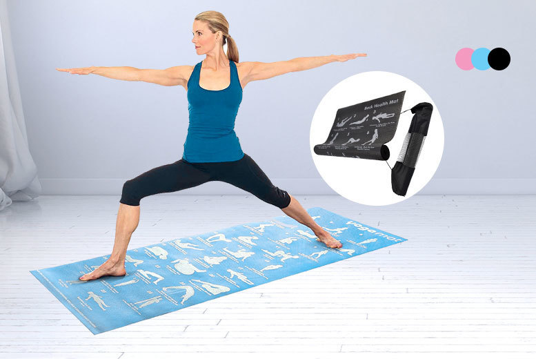 The Best Deal Guide - £5.99 instead of £39.99 for a 28 position guide yoga mat available in two colours from ViVo Technologies - save 85%