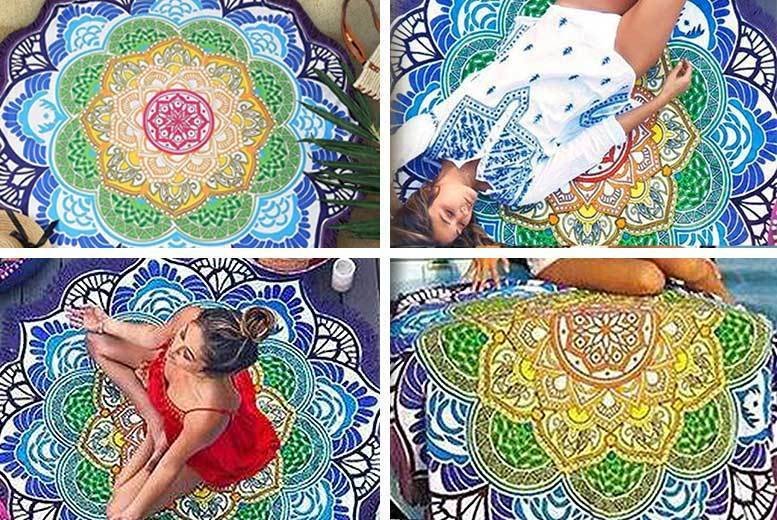 The Best Deal Guide - £9.99 instead of £39.99 for a chakra lotus flower throw from Boni Caro - save 75%
