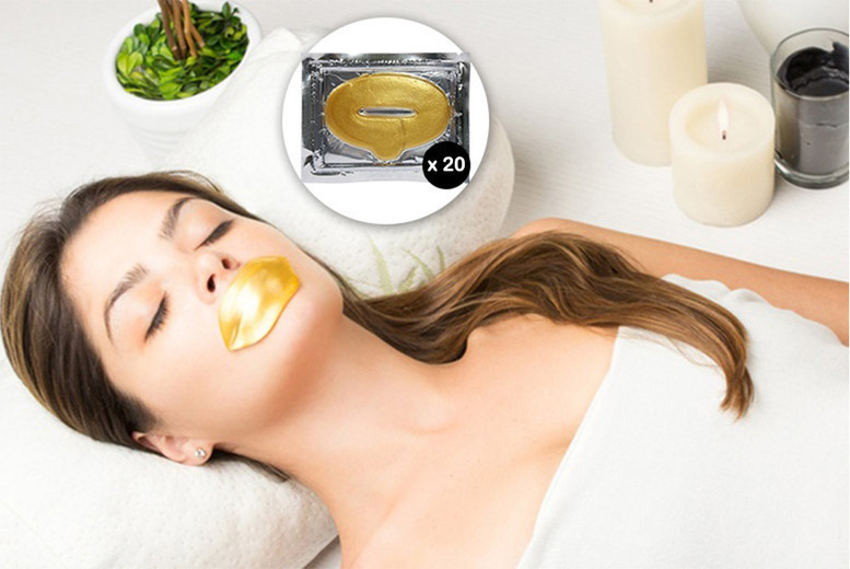 The Best Deal Guide - £4.99 instead of £99.98 for a set of 20 gold collagen lip masks from Forever Cosmetics - save 95%