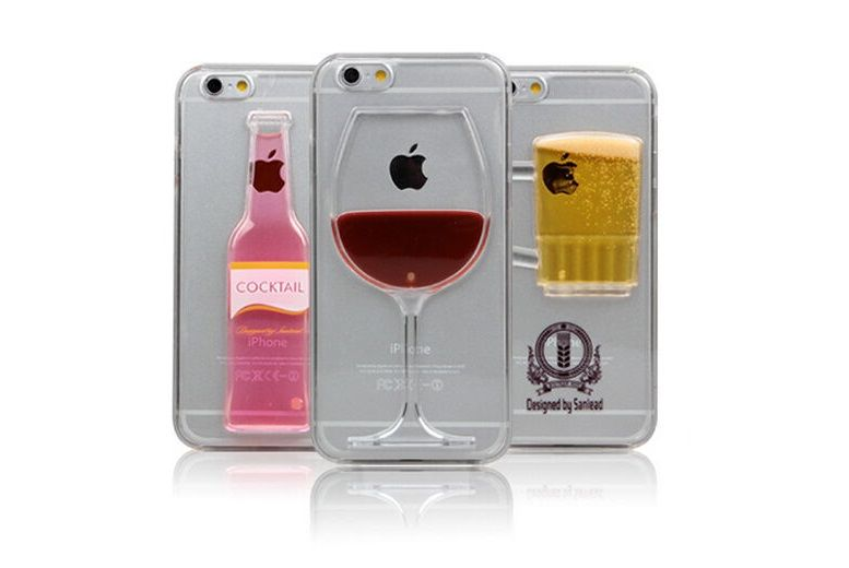 The Best Deal Guide - £3.99 instead of £9.99 for a liquid alcohol iPhone case - choose a beer, wine or cocktail design from London Exchain Store - save 60%