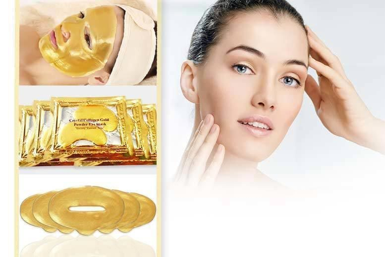 The Best Deal Guide - £5 instead of £97.44 for a gold collagen mask bundle from Forever Cosmetics - save 95%