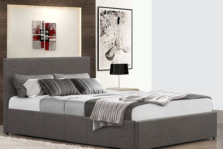 From £129 (from FTA Furnishing) for a fabric ottoman storage bed, from £199 to include a memory foam mattress - choose from two colours and save up to 67%
