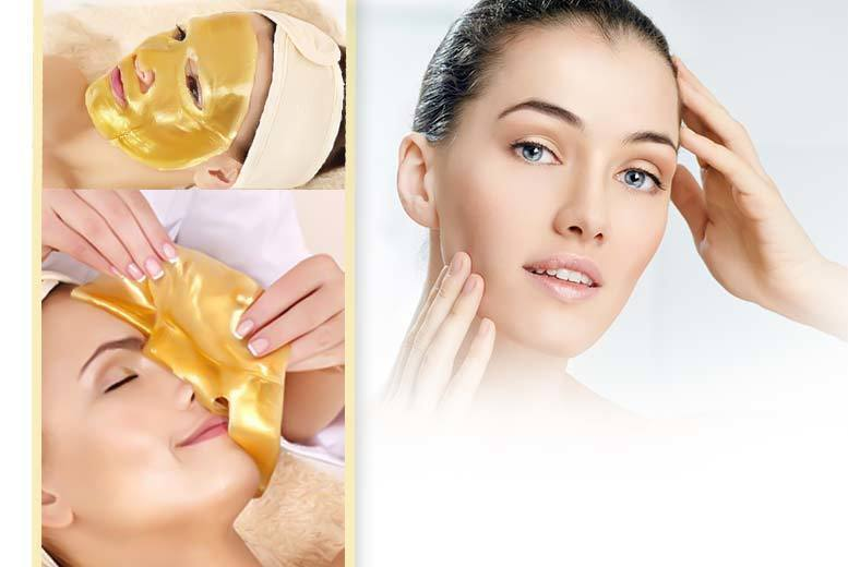 The Best Deal Guide - £6 instead of £103.98 for a pack of 10 gold collagen face masks and a headband from Forever Cosmetics - save 94%