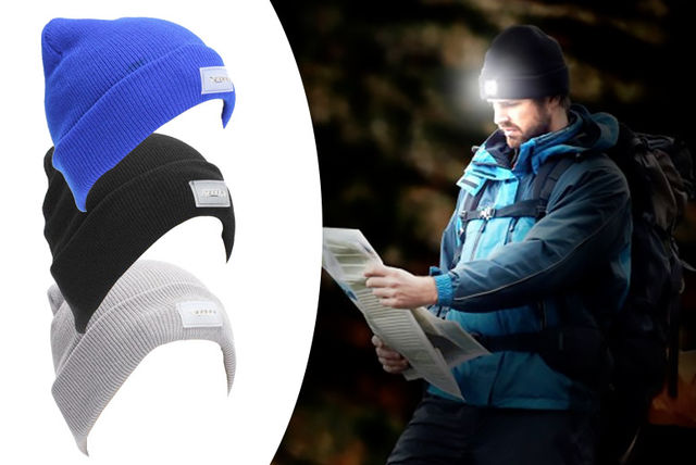 €7.99 instead of €28.25 (from DML Solutions) for a LED torch beanie hat -  save 72% 6ee790176a57