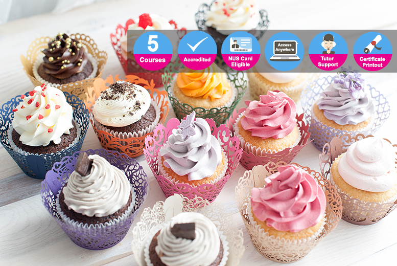 The Best Deal Guide - £8 instead of £99 (from New Skills Academy) for accredited courses in running a baking business, cake decorating, baking or cupcakes and muffins, or £16 for a full cupcake academy diploma - save up to 92%