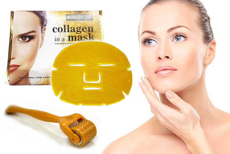 The Best Deal Guide - £7.99 instead of £49.98 for a microneedle derma roller & 5 gold collagen face masks from Forever Cosmetics - save 84%