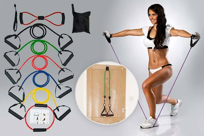 The Best Deal Guide - £8.99 instead of £39.99 for an 11pc yoga & cross-fit resistance band set with workout guide from ViVo Technologies - save 78%